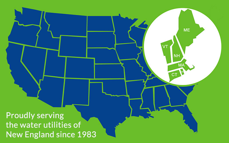 Proudly serving the water utilities of new england since 1983